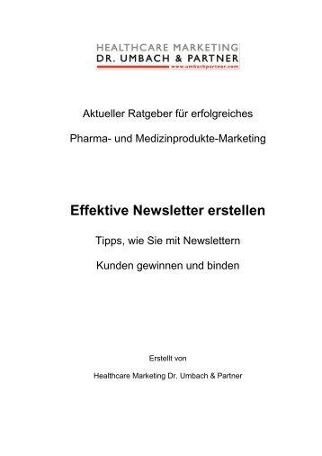 Effektive Newsletter erstellen - Healthcare Marketing Dr. Umbach ...