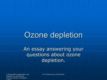 Ozone depletion - Majhost