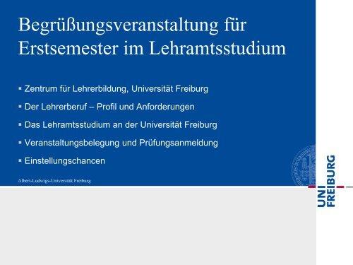 Informationen zum Lehramtsstudium für Schülerinnen und Schüler