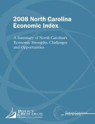 2008 NC Economic Index - Department of Commerce