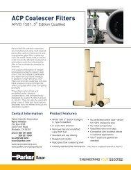ACP Coalescer Filters - Bolland Machine