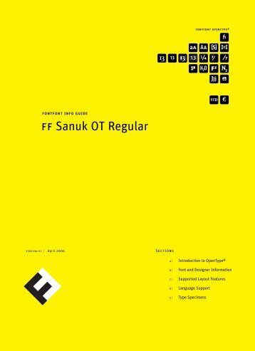 Font Shop International: FF Sanuk OT Regular - Fontblog