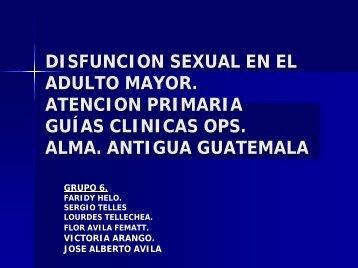 Disfunción sexual en el Adulto Mayor. Atenció Primaria. Guías ...