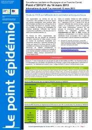 Point épidémiologique du 14 mars 2013 - ARS Bourgogne