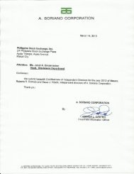Certification of Independent Directors - A. Soriano Corporation