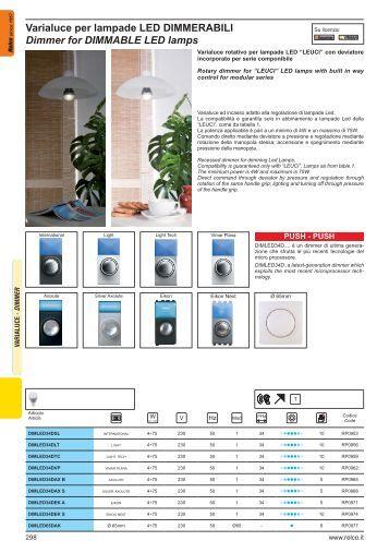 Varialuce per lampade LED DIMMERABILI Dimmer for ... - Relco