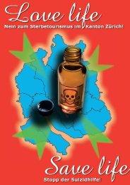 Nein zum Sterbetourismus im Kanton Zürich! Stopp der Suizidhilfe!
