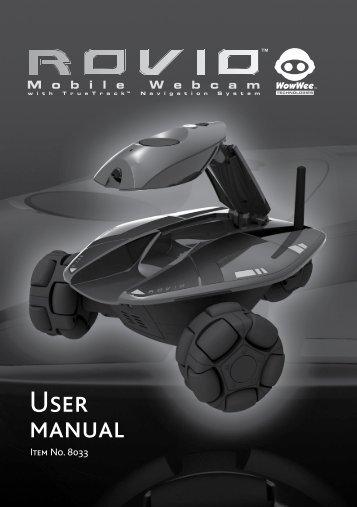 Rovio User manual - WowWee