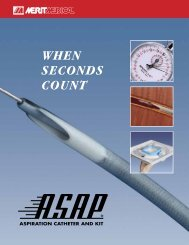 When SecondS count - Merit Medical