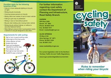 Cycling Safety - Department of Transport
