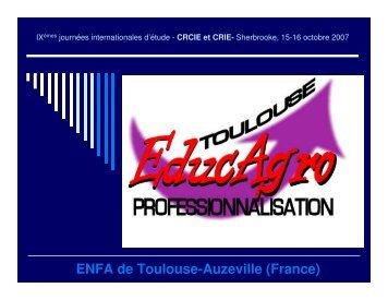 Les pratiques d'enseignement - ENFA - Centre de recherche sur l ...