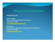 Perkins Loan Assignments - NACUBO