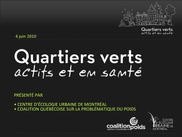 présentation - Coalition québécoise sur la problématique du poids