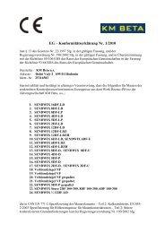 EG – Konformitätserklärung Nr. 1/2010 - KM Beta