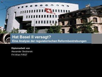 Hat Basel II versagt? Eine Analyse der regulatorischen ...