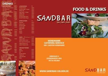 unsere Auswahl (auch als PDF downloadbar) -  SANDBAR HILDEN