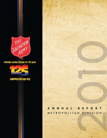 Annual Report - Salvation Army Metropolitan Division