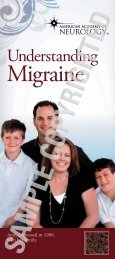 Download the Migraine brochure - American Academy of Neurology