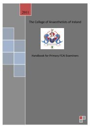 CAI Handbook for Primary Examiners - The College of Anaesthetists ...