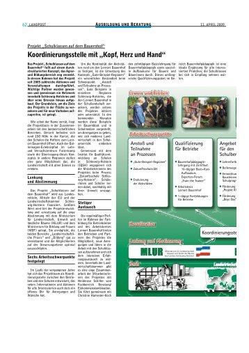 Koordinierungsstelle - Lernen durch Erleben - Projekt: Schulklassen ...