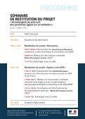 SÉMINAIRE DE RESTITUTION DU PROJET - Evenium - Page 2