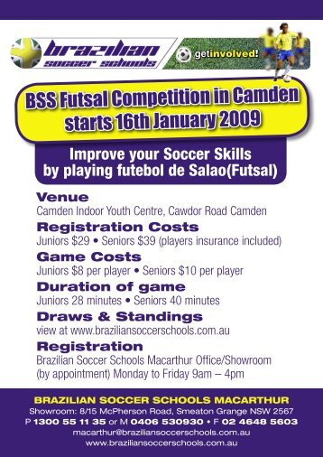 The Official Flyer and Entry form can be found here - Futsal4all - Futsal