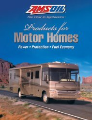 G496 - AMSOIL Products for Motor Homes - Brochure
