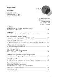 1 SPIELZEIT 06/07 Materialien zu NUR NOCH ... - Theater Ulm