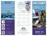 Lake County Monthly Events Guide - July 2013