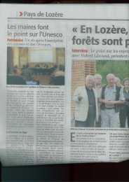 Revue de presse juin 2012 - Lozère