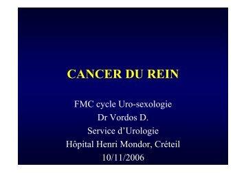 cancer du rein.pdf - Service d'Urologie CHU Henri Mondor