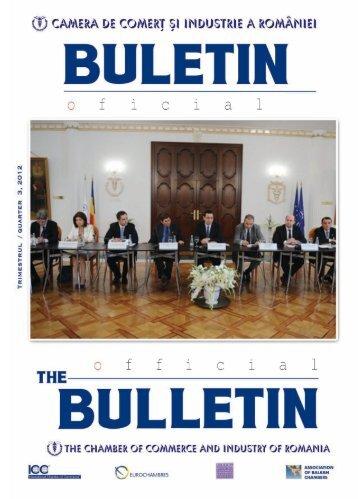 Buletinul Oficial al CCIR nr.3 / 2012 - Camera de Comert si Industrie ...