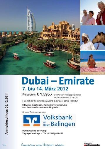 Dubai – Emirate - Volksbank  Balingen eG