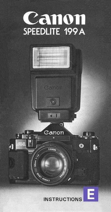 Canon 199A Flash manual in .PDF form - Baytan.org