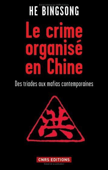 Le crime organisé en Chine - Decitre