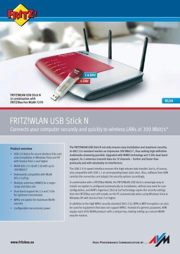 FRITZ!WLAN USB N Stick Datasheet - VoipAndGo