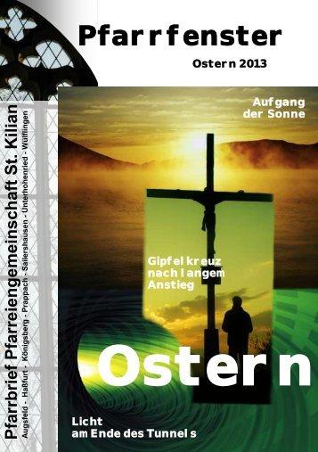 Pfarrfenster Februar 2013 - Pfarrei St. Kilian Haßfurt