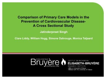 Comparison of Primary Care Models in the Prevention of ...