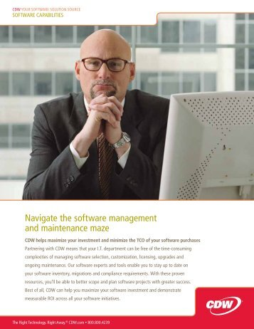 Navigate the software management and maintenance maze