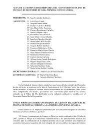 Pleno extraordinario del 22 de Diciembre de 2008 - Ayuntamiento ...