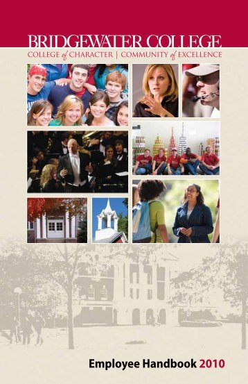 Employee Handbook 2010 - Home - Welcome - Bridgewater College
