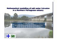 Mathematical modelling of salt water intrusion in a Northern ... - APRH