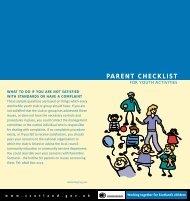 B19729 parent checklist