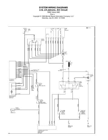 VOlvo 940 (1995) Wiring Diagrams