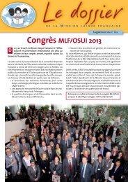 Téléchargez le dernier numéro du Dossier - Mission laïque française
