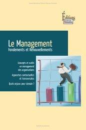 Le Management - Fondements et Renouvellements - Decitre