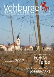 Liebe Mitbürgerinnen und Mitbürger - Stadt Vohburg