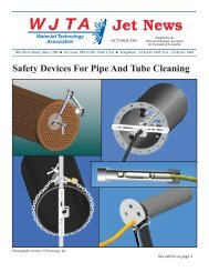 Safety Devices For Pipe And Tube Cleaning - Waterjet Technology ...