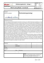 Planfeststellungsunterlage - Netzausbau in Niedersachsen