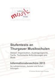 Stufentests Broschüre 2013 - Musikschulen Thurgau